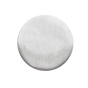 PIN'S ROND A GRAVER 20MM ARGENT