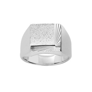 CHEVALIERE ARGENT CARREE DIAMANTEE
