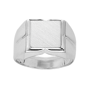 CHEVALIERE CARREE ARGENT