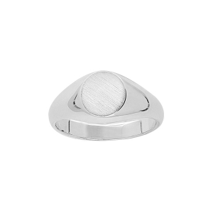 CHEVALIERE OVALE 10*08 ARGENT