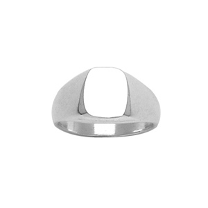 CHEVALIERE OVALISEE 10X09 ARGENT