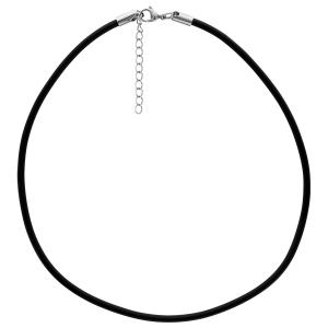 collier cordon cuir femme 50 cm