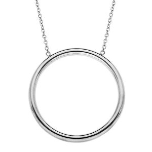 COLLIER ACIER GRAND CERCLE 42+3CM