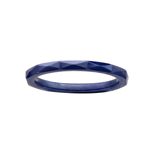 ALLIANCE 1/2 JONC 2MM CERAMIQUE BLEU FACETE