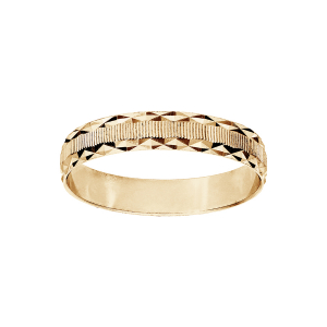 ALLIANCE VERMEIL 4MM DIAMANTEE