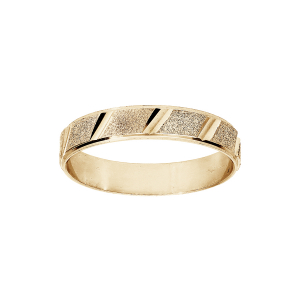 ALLIANCE VERMEIL 4MM GRANITÉ ET DIAMANTEE BIAIS