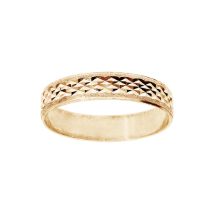 ALLIANCE VERMEIL 4MM DIAMANTEE X