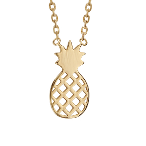 COLLIER PLAQUÉ OR ANANAS 37+4CM