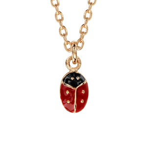 COLLIER PLAQUÉ OR COCCINELLE 36+2CM