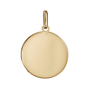PENDENTIF PLAQUÉ OR ROND GRAND MODELE 24MM