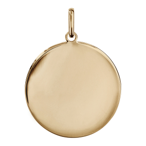 PENDENTIF PLAQUÉ OR ROND TRES  GRAND MODELE 30MM