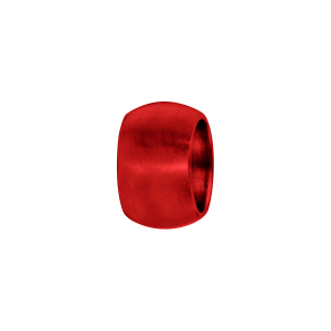 CHARMS ALUMINIUM ANODISE ROUGE ANNEAU BOMBE LISSE