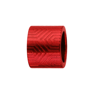 CHARMS ALUMINIUM ANODISE ROUGE FORME TUBE MOTIF AZTEQUE