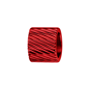CHARMS ALUMINIUM ANODISE ROUGE FORME TUBE STRIE