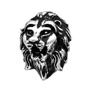 CHARMS ACIER TETE DE LION PATINE