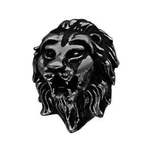 CHARMS ACIER ET PVD NOIR TETE DE LION