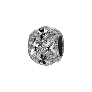 CHARMS COULISSANT ARGENT RHODIE BOULE DIAMANTEE ETOILE 10X5MM