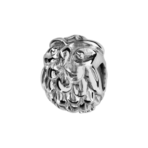 CHARMS COULISSANT ARGENT RHODIE CHOUETTE