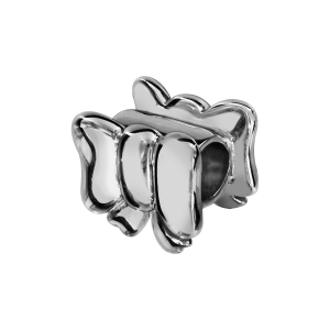 CHARMS COULISSANT ARGENT RHODIE NOEUD