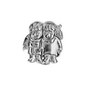 CHARMS COULISSANT ARGENT RHODIE FILLE GARCON