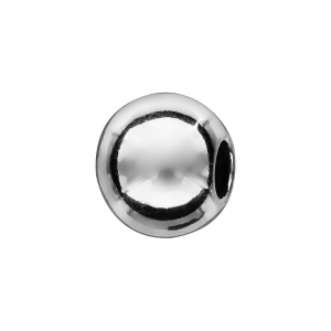 CHARMS COULISSANT ARGENT RHODIE BOULE LISSE 10x5MM