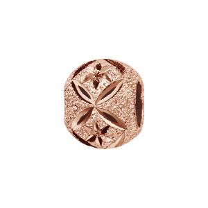 CHARMS COULISSANT ARGENT ET DORURE ROSE BOULE PAILLETE ETOILES ET X 10x5MM