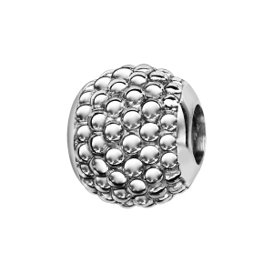 CHARMS COULISSANT ARGENT RHODIE BOULE CLOUTEE