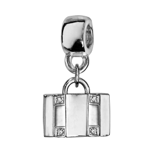 CHARMS COULISSANT VALISE RECTO VERSO OXYDES SERTIS ARGENT RHODIE