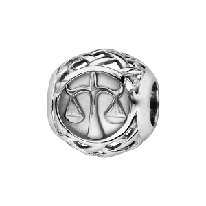 CHARMS COULISSANT ARGENT RHODIE ZODIAQUE BALANCE