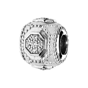 CHARMS COULISSANT ARGENT RHODIE OXYDE BLANC