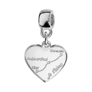 CHARMS COULISSANT ARGENT RHODIE COURBE D'AMOUR