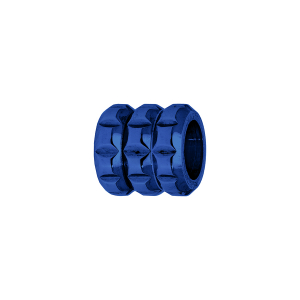 CHARMS ACIER MEDIUM FORME TUBE PVD BLEU
